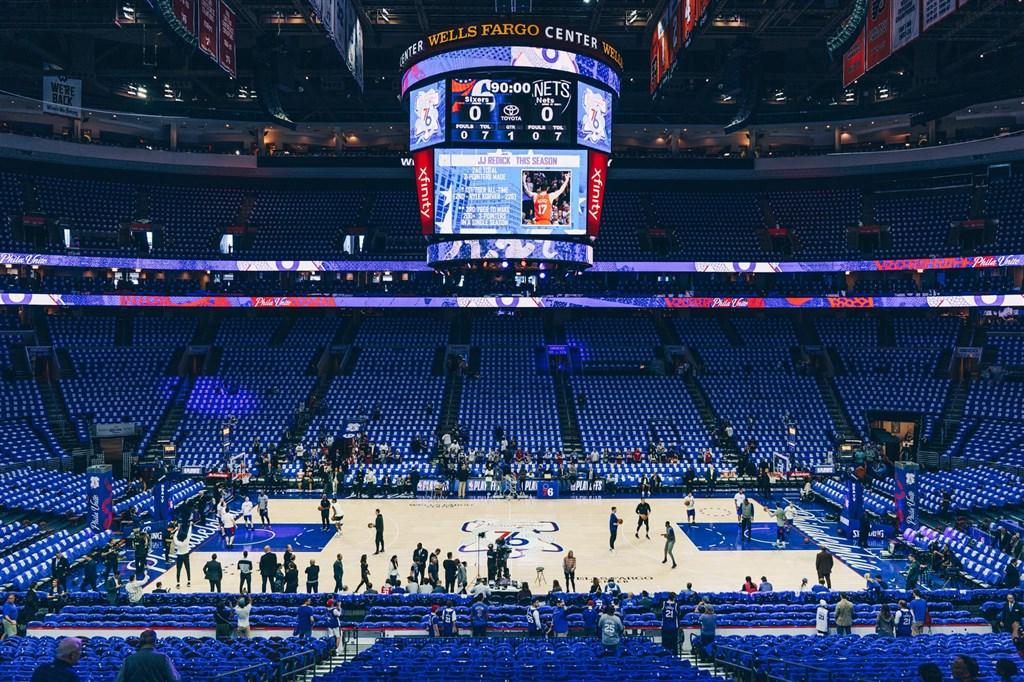 美國職籃NBA費城76人在19日宣布,球團有3人武漢肺炎檢測呈陽性反應。(圖取自facebook.com/Sixers)