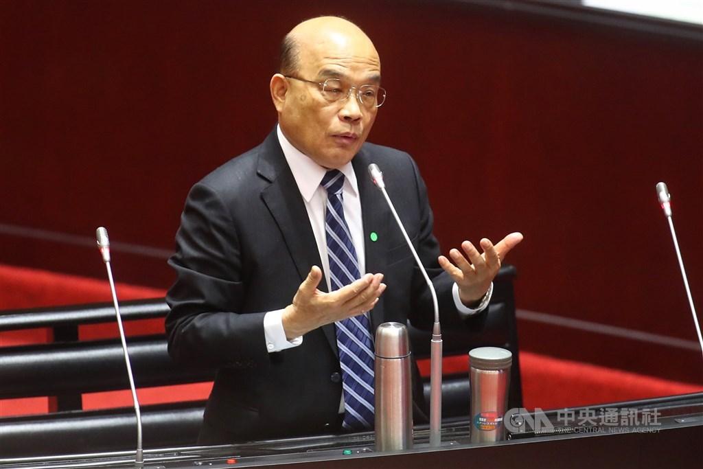 立法院會24日繼續進行施政總質詢,行政院長蘇貞昌出席接受委員質詢。中央社記者王騰毅攝 109年3月24日