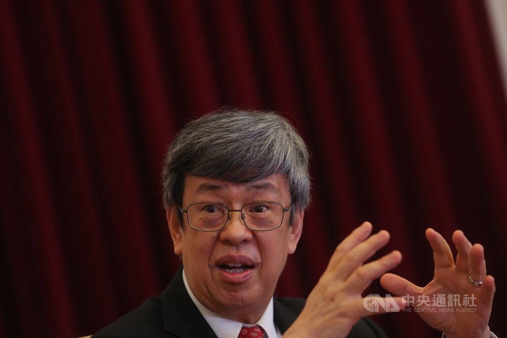 副總統陳建仁(圖)接受中央社專訪時表示,希望5月19日時武漢肺炎疫情得到控制,「打完美好的一仗」。中央社記者吳家昇攝 109年3月25日