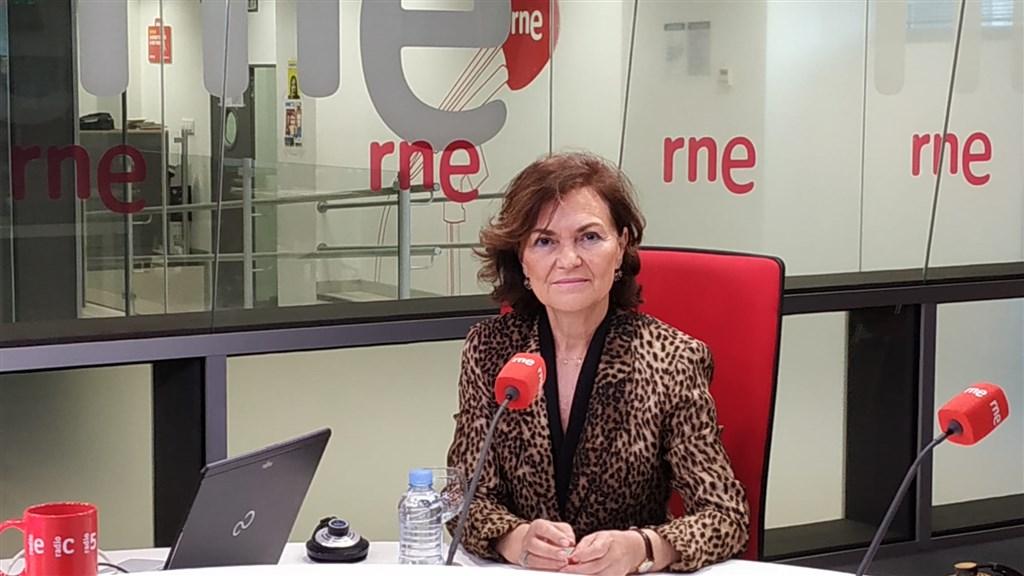 西班牙政府25日表示,副總理卡爾沃經檢測,對武漢肺炎病毒呈陽性反應。(圖取自twitter.com/M_Presidencia)