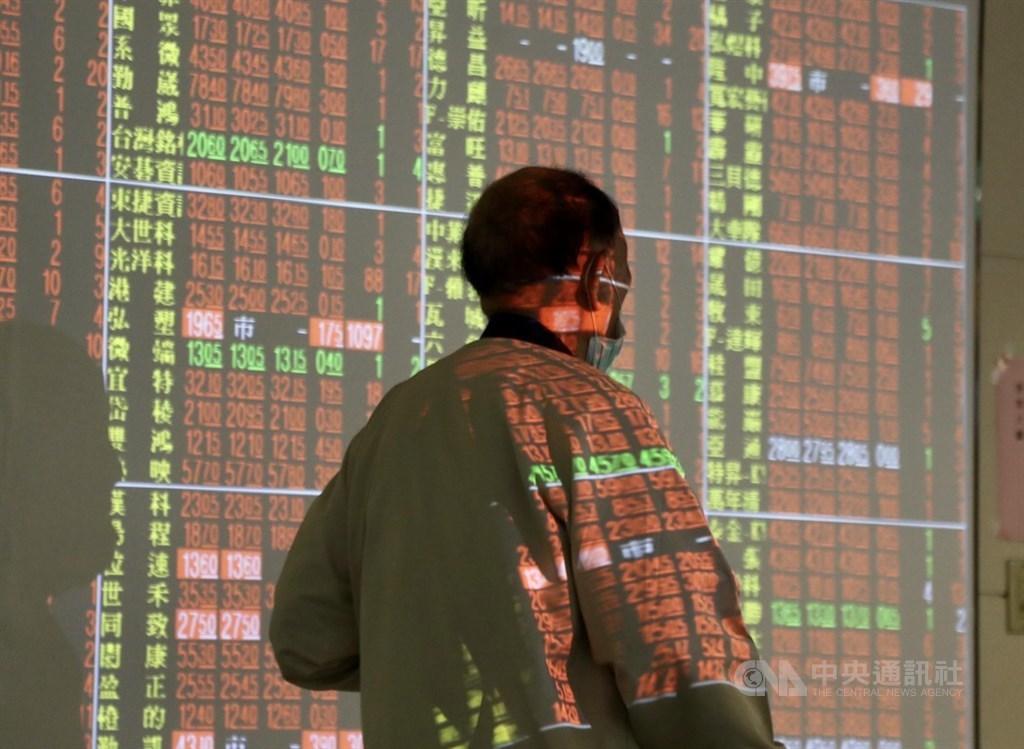 美股道瓊大漲1351點,台股27日早盤一度大漲218點,不過盤中漲幅收斂到百點以內,9900點得而復失。(中央社檔案照片)