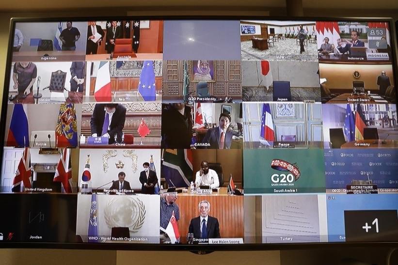 20國集團成員國26日誓言建立「聯合陣線」對抗冠狀病毒,表示將傾注5兆美元來對抗武漢肺炎疫情大流行。(圖取自twitter.com/eucopresident)