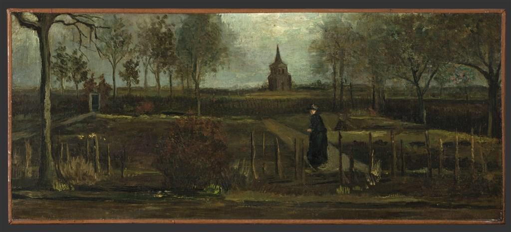 失竊畫作是梵谷1884年完成的「春日花園,春天在努能的牧師公館花園」,這幅畫是從荷蘭的格羅寧根美術館借來展出。(圖取自facebook.com/GroningerMuseum)
