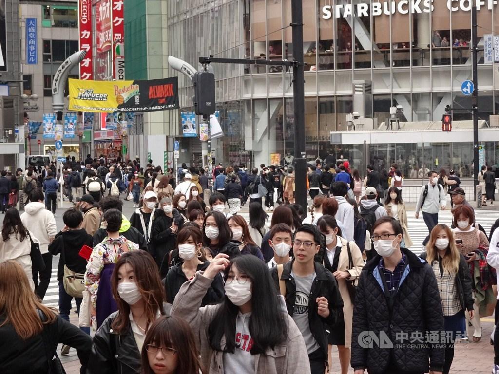 武漢肺炎疫情在日本持續擴大,日本3日再添227例確診病例,包括東京新增的89例,累計確診病例突破3000例。(中央社檔案照片)