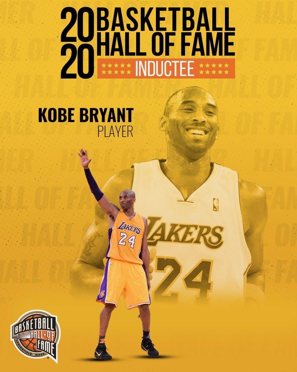 2020年籃球名人堂4日公布入選名單,包括布萊恩(圖)、鄧肯、賈奈特3位NBA偉大球星在內等9人正式入主籃球最高殿堂。(圖取自twitter.com/Hoophall/)
