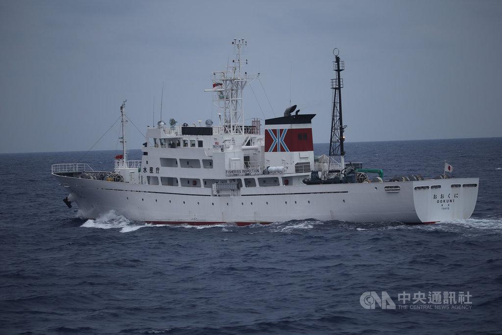 台灣2漁船3月24日分別在花東外海、台灣專屬經濟海域遭日本公務船驅趕,海巡署東部地區機動海巡隊8日公布日本公務船照片。(海巡署東部地區機動海巡隊提供)中央社記者張祈傳真 109年4月8日
