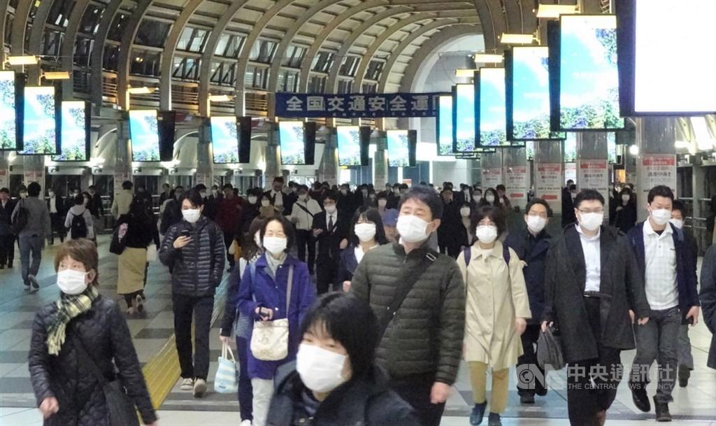 日本境內截至9日下午3時新增29例武漢肺炎病例,累計病例數已破5000大關,來到5002例。(中央社檔案照片)