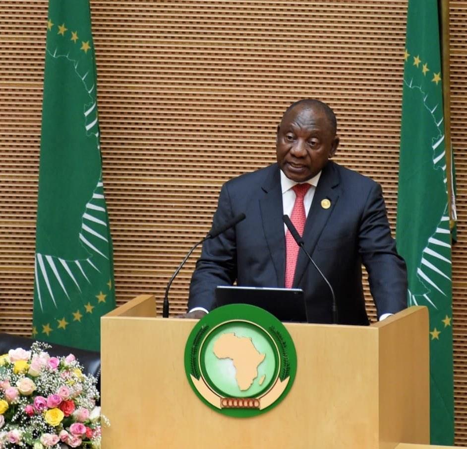 目前擔任非洲聯盟主席的南非總統拉瑪佛沙表示,大體上,非洲聯盟認可並感謝世衛的出色應對。(圖取自twitter.com/cyrilramaphosa)
