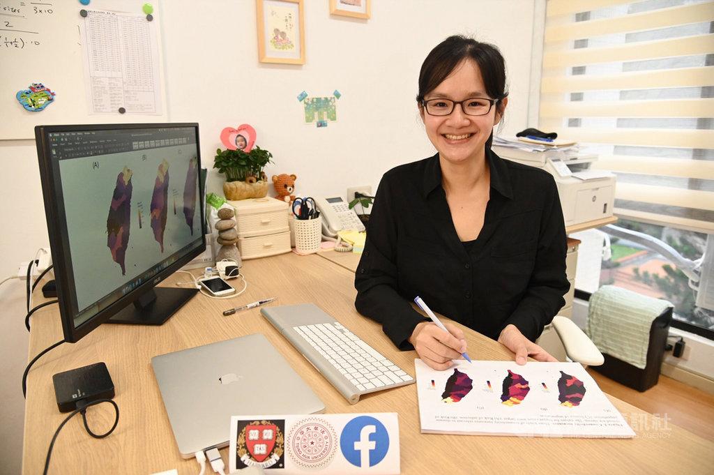 清華大學生物資訊與結構生物研究所助理教授張筱涵(圖)的團隊與哈佛大學公衛學院,以臉書提供的大數據進行武漢肺炎防疫研究,從人群接觸率推估,國內感染風險最高的是台北市。(清華大學提供)中央社記者許秩維傳真  109年4月14日