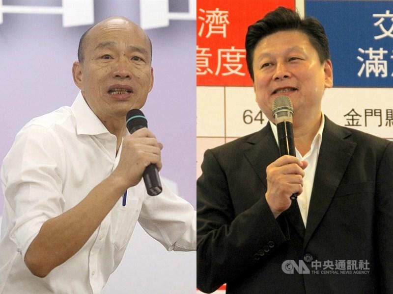 高雄市長韓國瑜團隊聲請停止執行罷免案,過去曾力挺韓國瑜(左)參選總統的無黨籍立委傅崐萁(右)16日說反對韓國瑜這樣做,此時應該要無聲勝有聲。(中央社檔案照片)