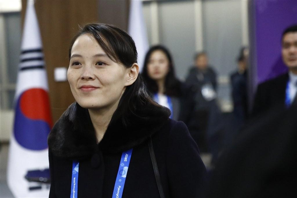 南北韓關係近日急凍,北韓領導人金正恩胞妹金與正(圖)甚至暗示軍事行動。(美聯社)