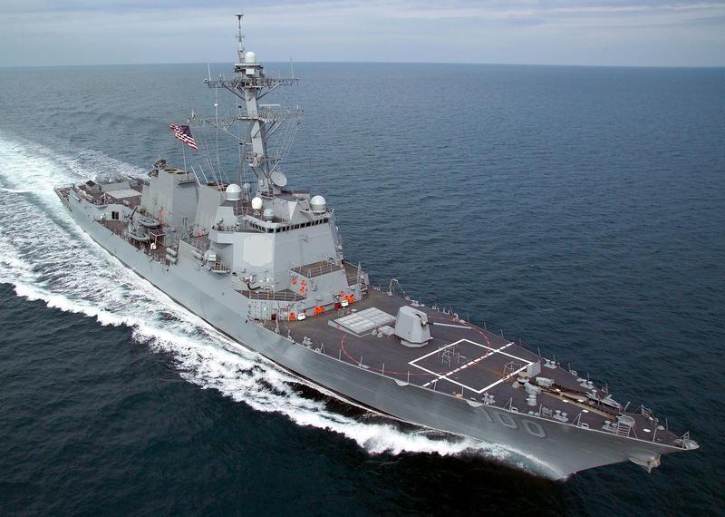 美軍驅逐艦紀德號(圖)18名船員經檢測新型冠狀病毒呈陽性反應。(圖取自維基共享資源,版權屬公有領域)