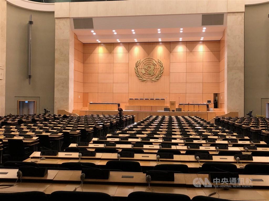 世界衛生大會將舉行,中國駐日內瓦代表團2日強硬拒絕邀請台灣,並批評台美衛生部長官方接觸違反一中。圖為2019年世界衛生大會會場。(中央社檔案照片)
