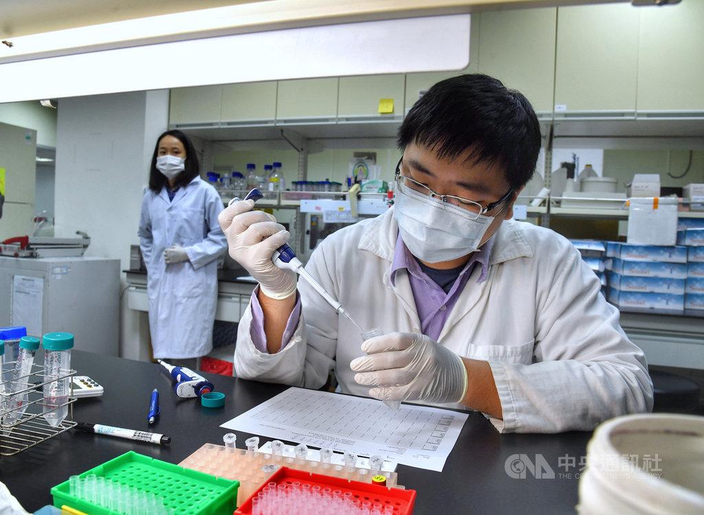 凌越生醫7日在台北舉行記者會,董事長陳作範表示,研發團隊資深研究員在2月中旬後全力投入新型冠狀病毒抗體快篩試劑研發,進而縮短研發流程,也已經在5日送至衛福部緊急授權專案製造核准,已準備好隨時進入量產;圖為凌越生醫實驗室。中央社記者王飛華攝 109年5月7日