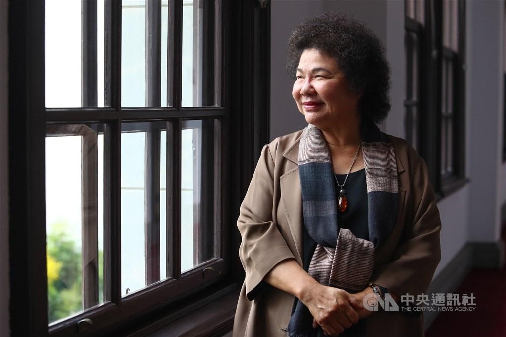 前總統府秘書長陳菊(圖)26日表示,媒體報導蔣經國的日記中,多次提到她的名字。(中央社檔案照片)