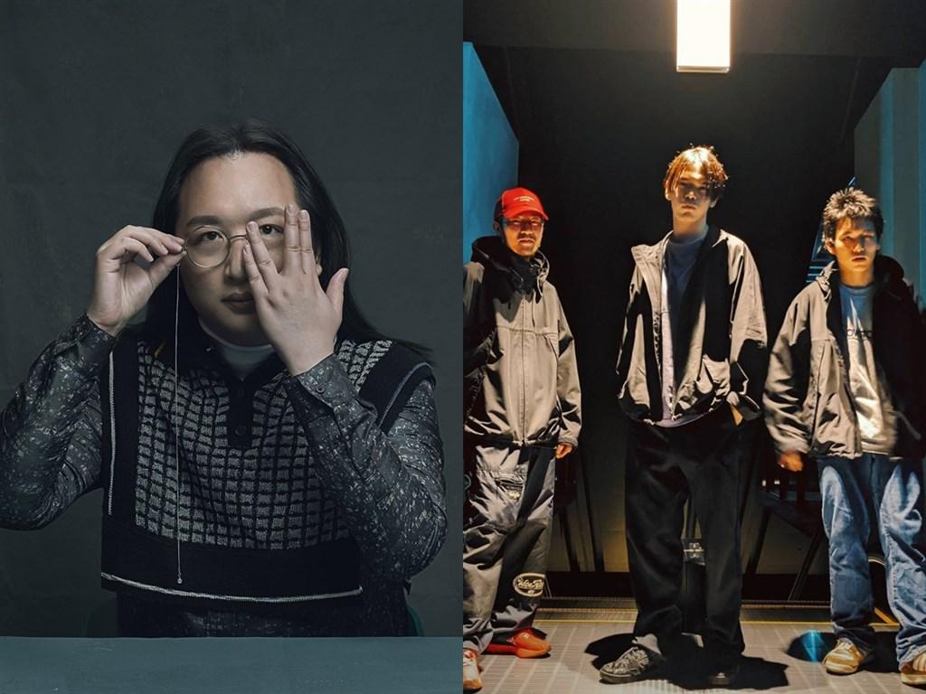 政委唐鳳(左)與日本嘻哈樂團Dos Monos(右)跨界合作,26日在YouTube推出別具特色嘻哈新曲。(左圖唐鳳提供;右圖取自twitter.com/dosmonostres)