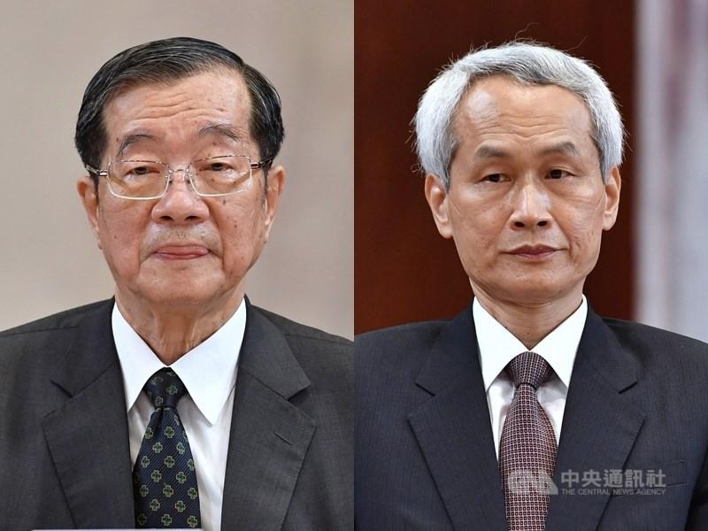 總統蔡英文29日提名黃榮村(左)為考試院長、周弘憲(右)為副院長。中央社記者王飛華攝 109年5月29日