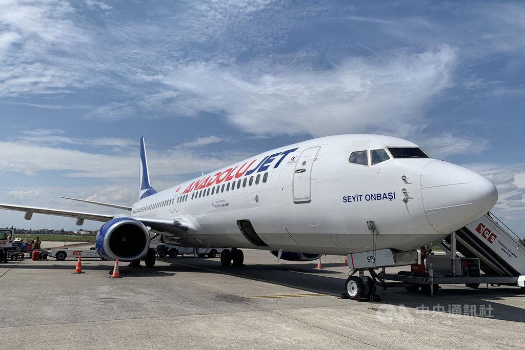土耳其運輸和基礎設施部於30日宣布,國內航空交通於6月1日起恢復營運。圖為土耳其航空旗下廉航AnadoluJet客機,攝於108年4月7日。中央社記者何宏儒阿達那攝 109年5月30日