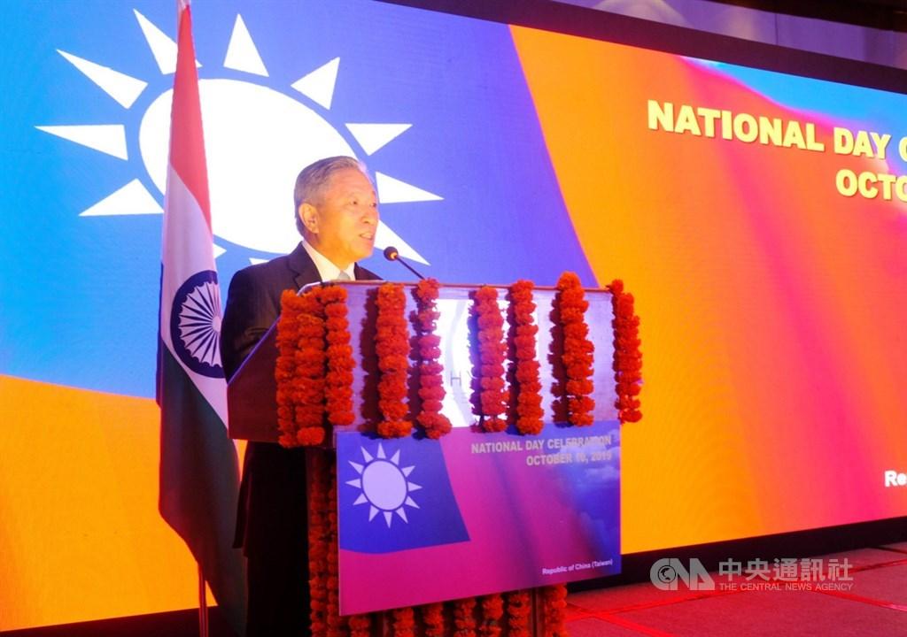駐印度代表田中光近日接受印度「出版」報專訪時,除強調台灣是印度不可或缺的夥伴。(中央社檔案照片)