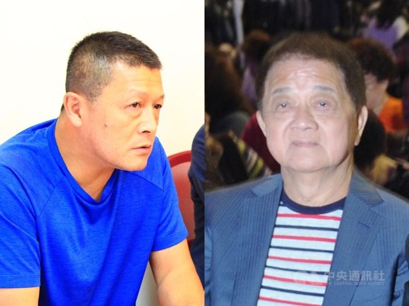 男子徐國璋(左)主張,自己是歌仔戲國寶楊麗花先生洪文棟(右)的兒子,二審判定兩人有血緣關係,也有撫育事實。(中央社檔案照片)