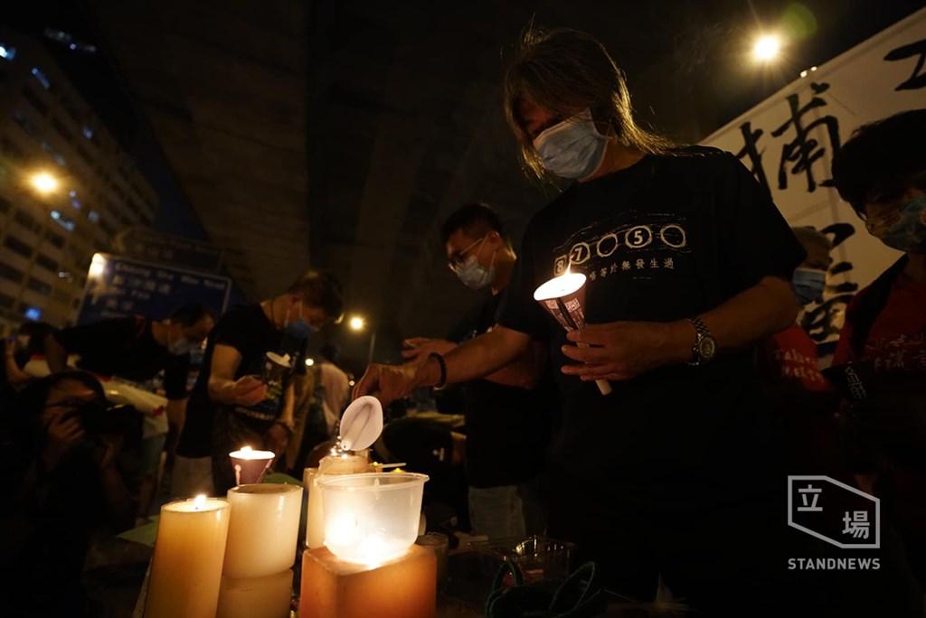 受武漢肺炎疫情影響,港人2020年未能齊集港島維多利亞公園紀念「六四」亡魂,香港支聯會改以遍地開花方式繼續悼念。(立場新聞提供)