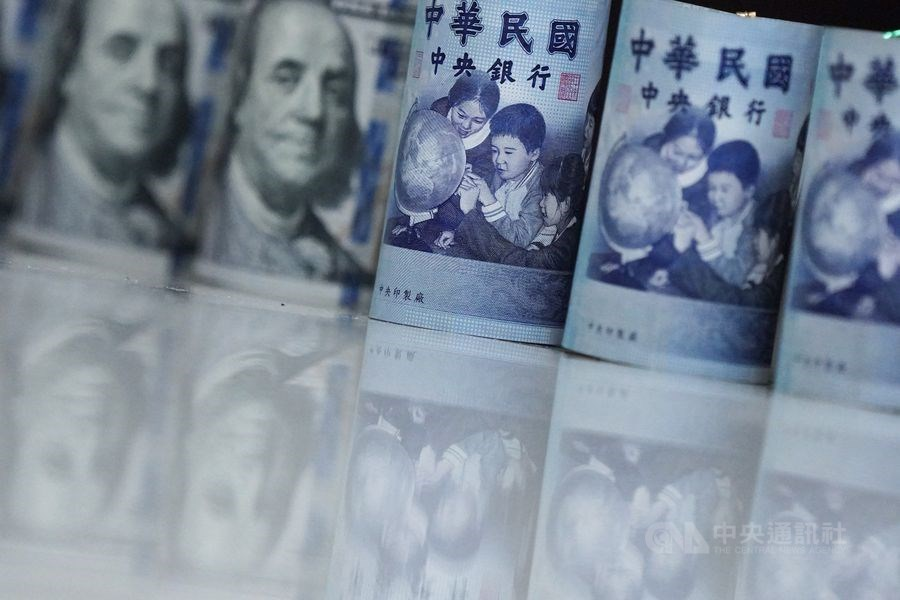 台北外匯市場新台幣兌美元匯率4日以29.930元開盤,貶2.5分。(中央社檔案照片)