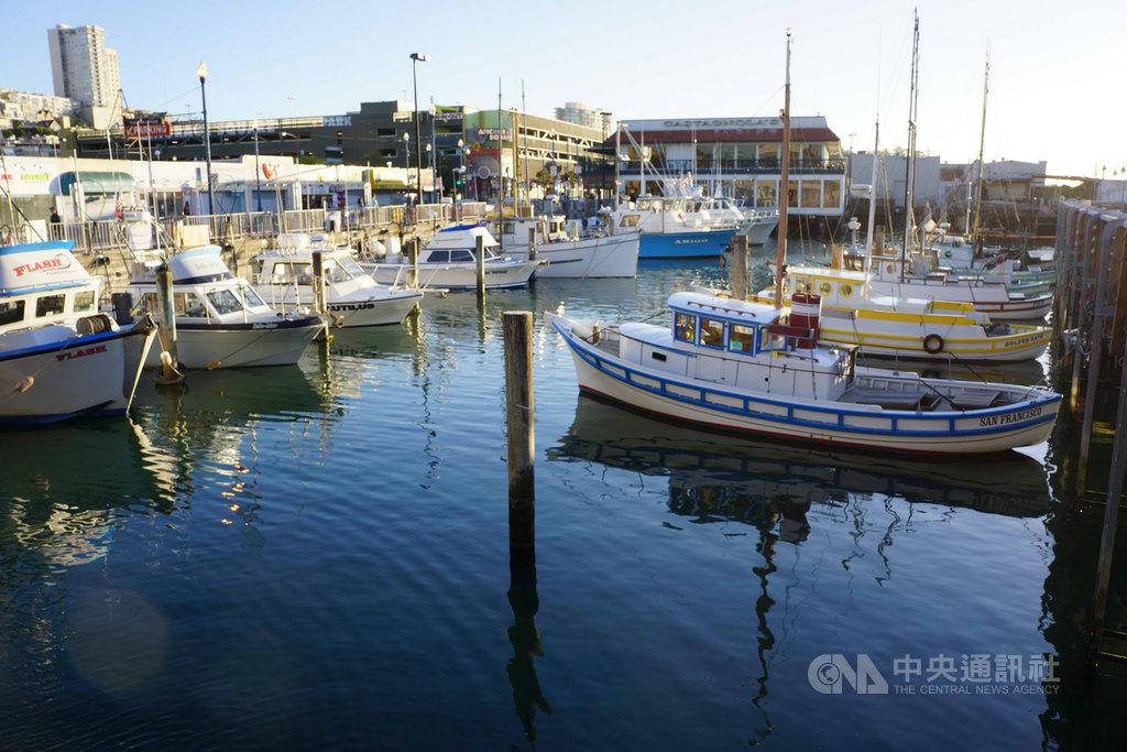 封城防疫期間,美國一些民眾出國度假的計畫只好取消而改買遊艇,因此受到疫情影響舊金山當地的遊艇交易相當熱絡。圖為109年5月27日舊金山碼頭有許多遊艇停泊。中央社記者周世惠舊金山攝 109年6月6日