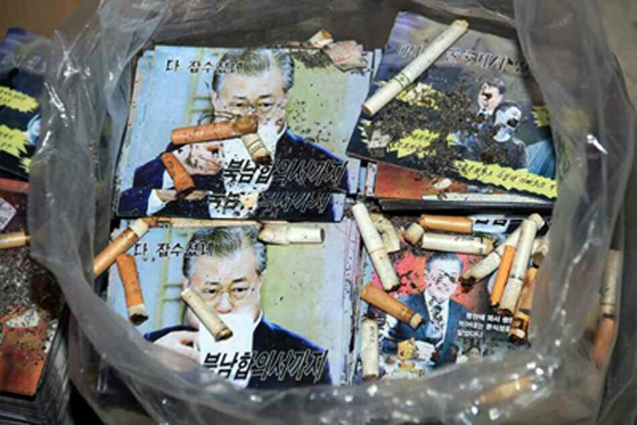 北韓官方媒體報導,平壤當局準備在與南韓的邊界處投放宣傳單,對脫北者及南韓當局加以譴責。(圖取自勞動新聞網頁rodong.rep.kp)