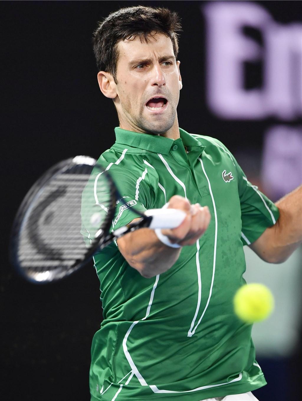 塞爾維亞的世界網球天王喬科維奇23日證實,他的武漢肺炎檢測呈陽性反應。(共同社提供)