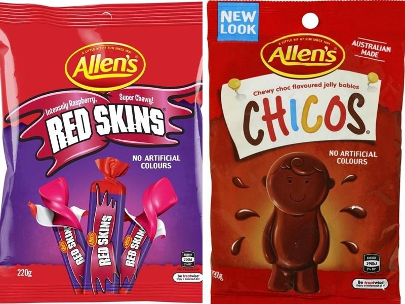 瑞士食品飲料業巨擘雀巢公司23日表示,旗下兩項受歡迎的澳洲糖果Redskins與Chicos將改名。(圖取自亞馬遜網頁amazon.com)