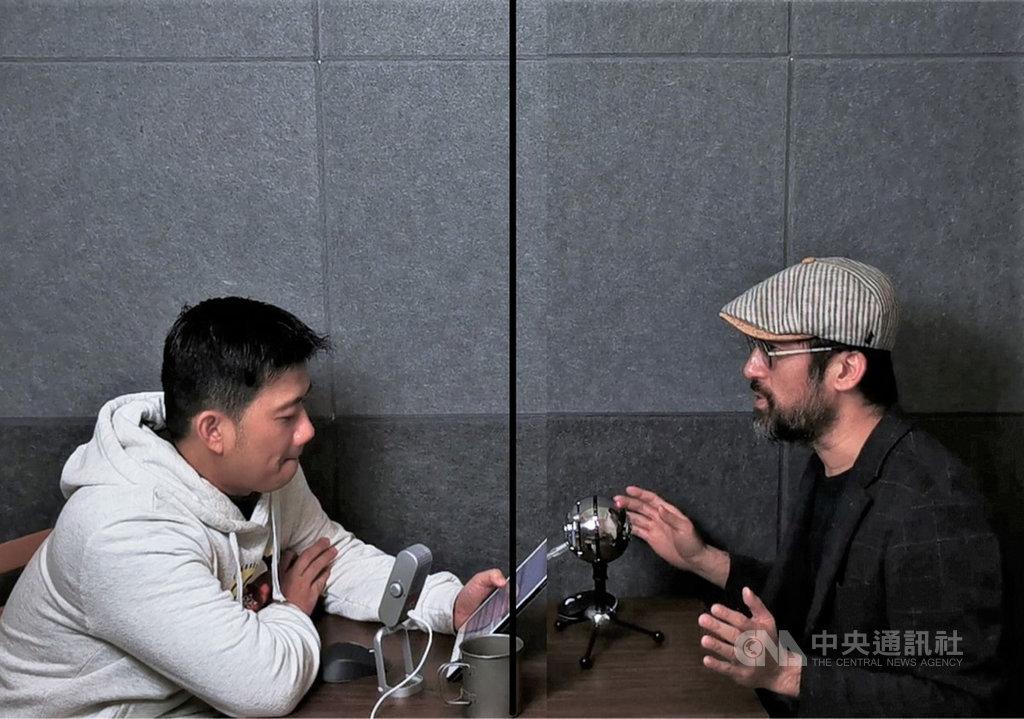 科技部落客林小旭(左)與科技玩家KisPlay(右)合作,在Podcast上開設網路廣播節目「科技酷宅」,探討各種類型的科技生活話題,在點聽排行榜上經常名列前茅。(林小旭提供)中央社記者吳家豪傳真 109年6月25日