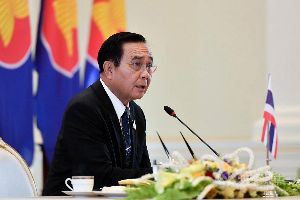 泰國總理帕拉育26日在東協峰會視訊會議呼籲,各國在今年完成簽署區域全面經濟夥伴協定(RCEP),以利東協經濟復甦。(泰國總理府提供)中央社記者呂欣憓曼谷傳真 109年6月26日