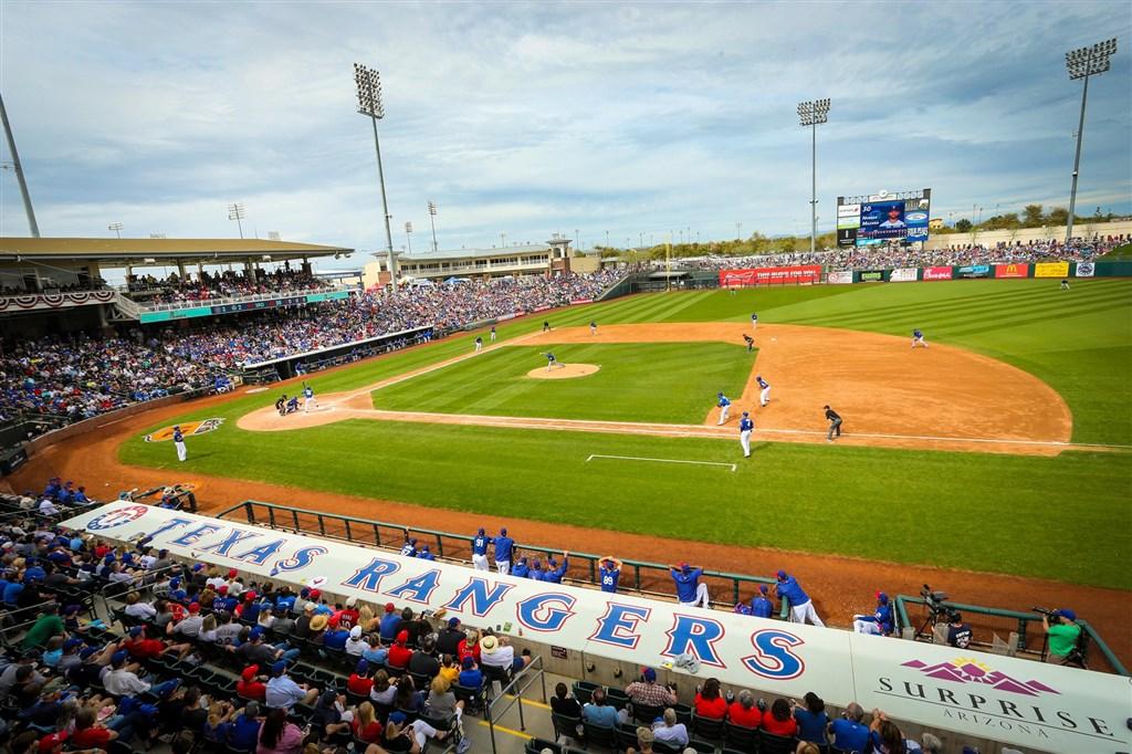 MLB準備7月重啟因疫情停擺的賽季之際,又有一隊被病毒攻陷,德州遊騎兵工作人員確診武漢肺炎。(圖取自facebook.com/Rangers)
