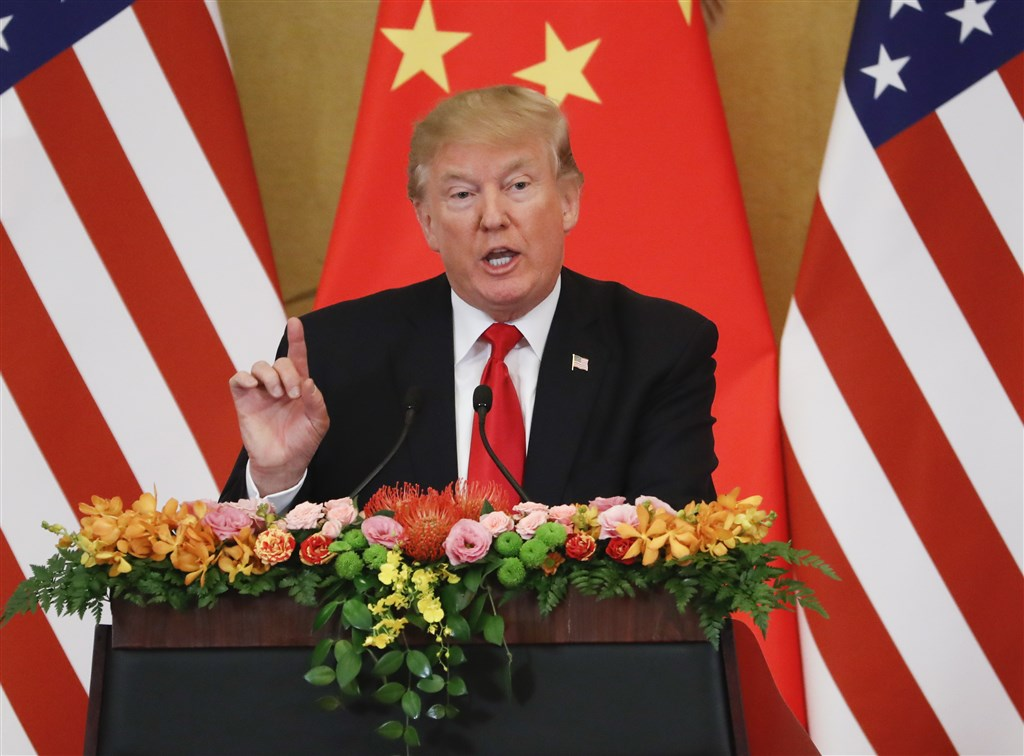 美媒報導,美中關係正邁入迄今最黑暗篇章,儘管如此,中國仍較期盼川普(圖)在年底的美國總統大選中勝出。(檔案照片/中新社提供)