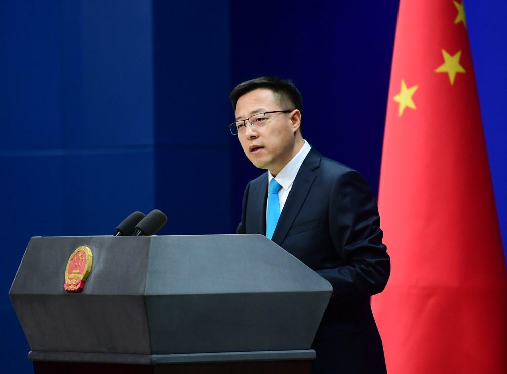 中國外交部發言人趙立堅2日在記者會以「不用再唸了」打斷英媒提問。(圖取自twitter.com/MFA_China)