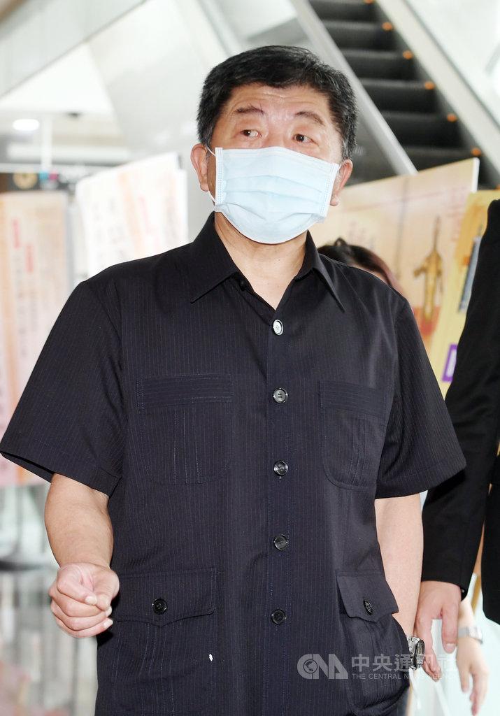 衛福部長陳時中4日上午前往台大國際會議中心,出席第90屆國醫節慶祝大會。中央社記者施宗暉攝 109年7月4日