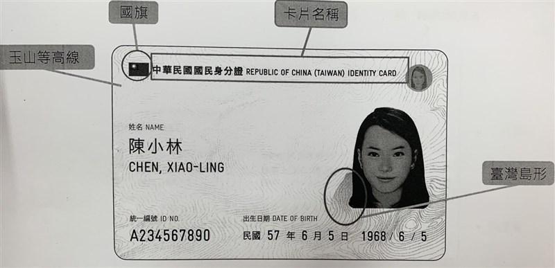受武漢肺炎疫情影響,內政部推遲在10月換發數位身分證的時程,暫定延到明年第一季或第二季先試辦。(翻攝照片)中央社記者顧荃傳真 108年8月22日