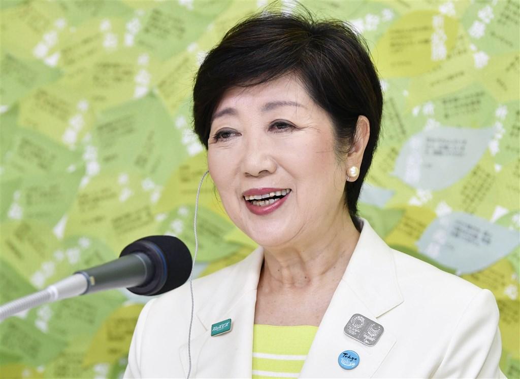 日本東京都知事小池百合子5日宣布連任成功。(共同社提供)