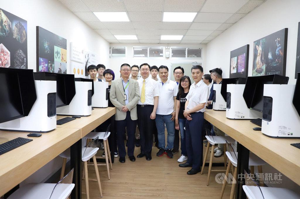 台灣科技大學與宏碁攜手打造ConceptD創能無限動畫中心,提供更有效率的創作環境,培育動畫創作人才。(台科大提供)中央社記者許秩維傳真 109年7月7日