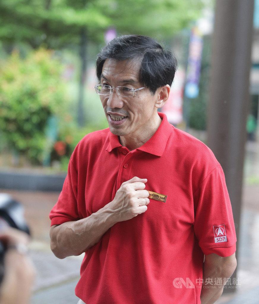 新加坡大選倒數計時,反對黨新加坡民主黨黨魁徐順全(圖)投入參選武吉巴督單選區國會議員。中央社記者黃自強新加坡攝 109年7月8日