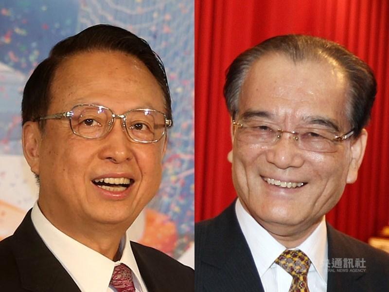 高鐵董事長江耀宗(左)及總經理鄭光遠(右)遭媒體質疑假減薪,用獎金模式補回來。高鐵回應,酬金符合交通部訂定標準。(中央社檔案照片)