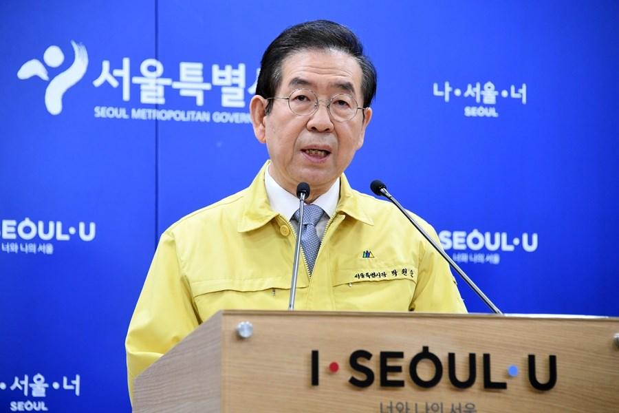 韓國首爾市長朴元淳9日下午失聯,警方經過7小時搜索後尋獲,但已無生命跡象。(圖取自首爾市政府網頁seoul.go.kr)