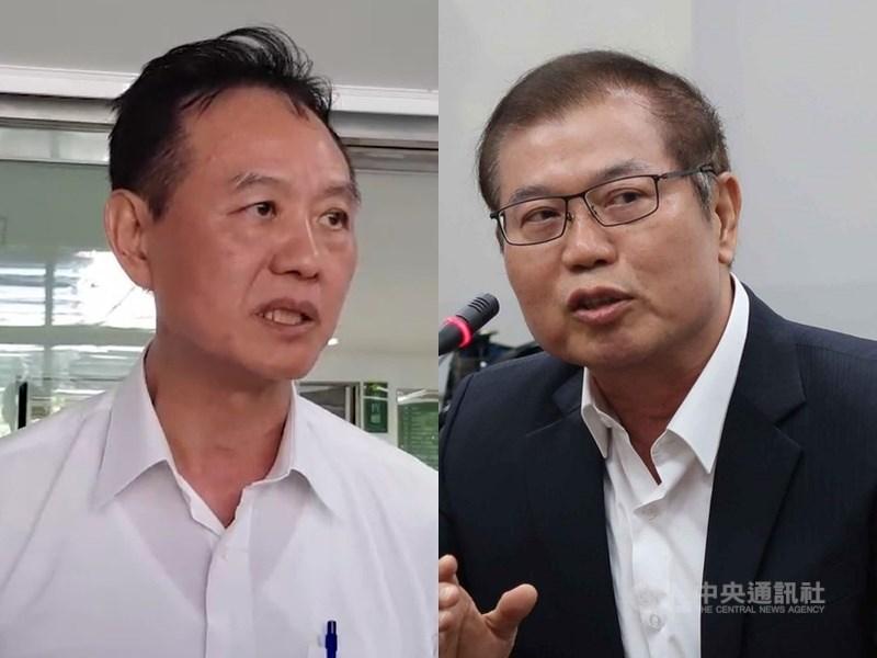 警政署13日表示,台南市警察局長周幼偉(左)和高雄市警察局長李永癸(右)兩人職務已報請內政部調整。(中央社檔案照片)