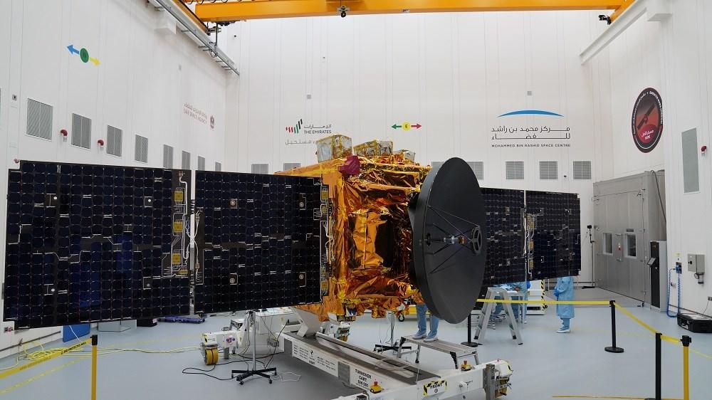 阿拉伯聯合大公國將在15日締造歷史,將「希望號」(Hope)探測器發射升空,成為第一個送探測器上火星的阿拉伯國家。(圖取自UAE SPACE AGENCY網頁space.gov.ae)