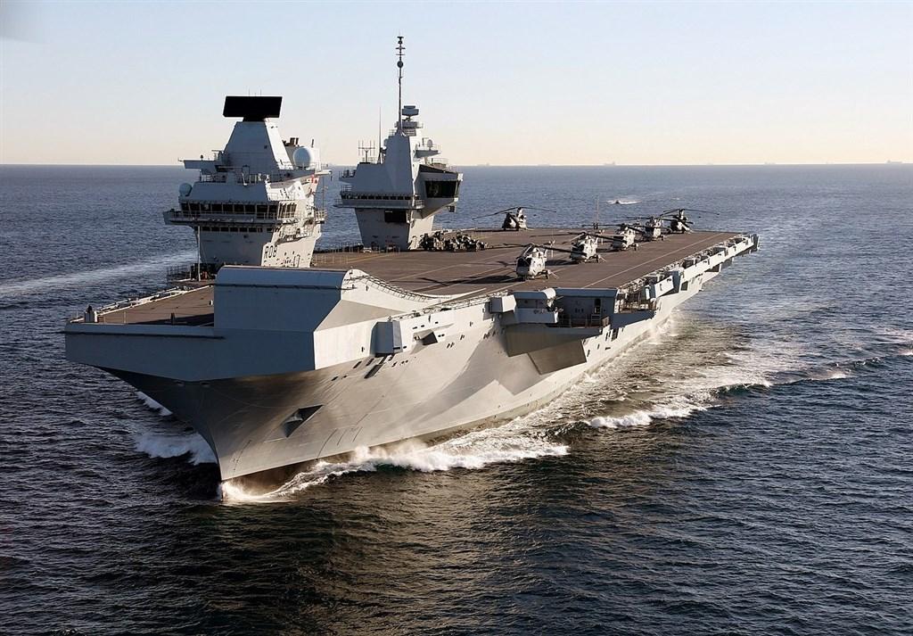 港媒報導,英國軍方正計劃將新航艦伊麗莎白女王號(圖)部署在亞洲。(圖取自維基共享資源;作者Dave Jenkins - InfoGibraltar,CC BY-SA 2.0)