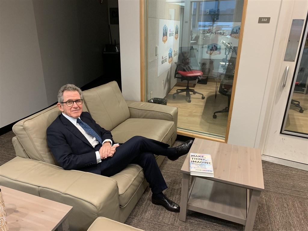 英國華為董事長布朗已宣布辭去職務,將於9月正式卸任。(圖取自twitter.com/LordJohnBrowne)
