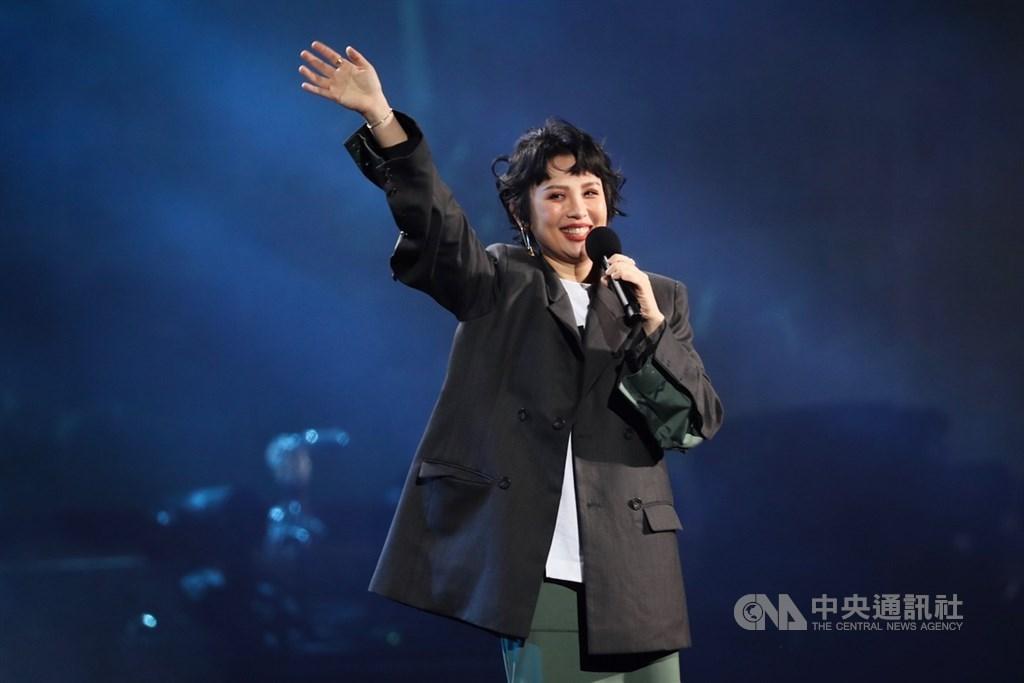 外傳歌手魏如萱(圖)將接下金曲獎頒獎典禮主持人,她的經紀人說,若有機會將全力以赴。(中央社檔案照片)