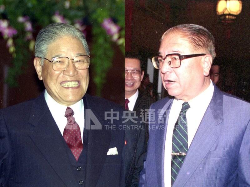 故總統蔣經國當年選擇李登輝(左)擔任副總統而不是林洋港(右),直至今日仍是外界議論話題。(中央社檔案照片)