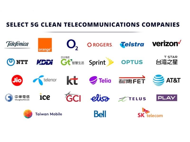 美國國務院公布「5G乾淨網路」清單,台灣5家電信全入列。(圖取自美國國務院網頁state.gov)