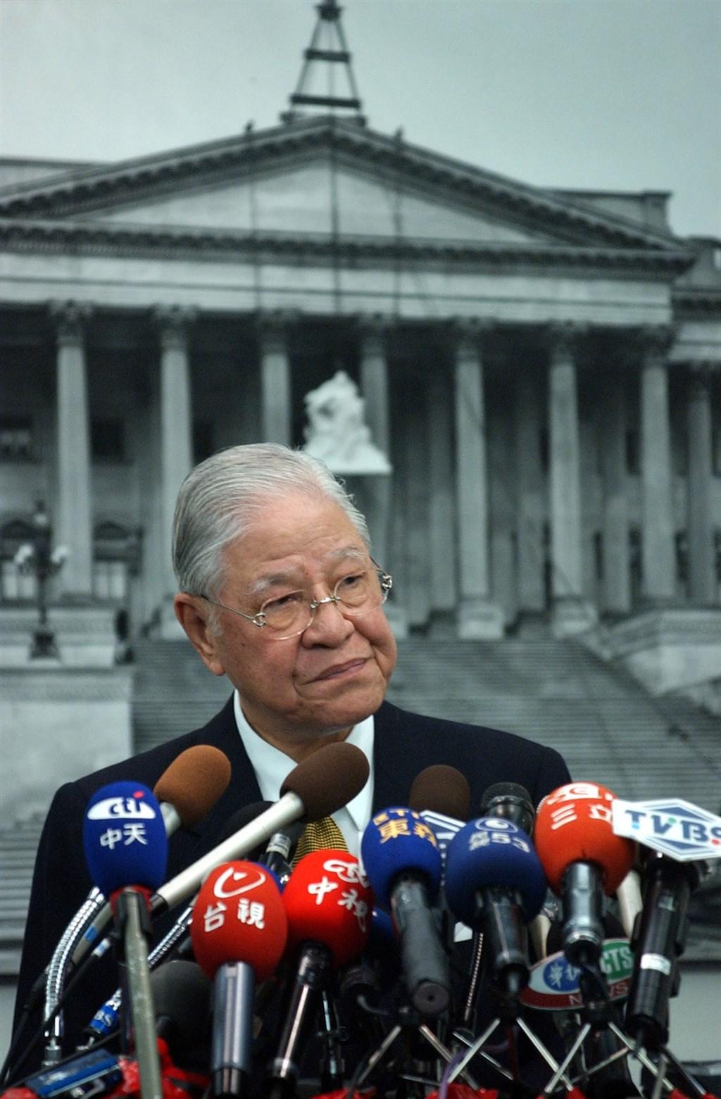 李登輝2005年10月19日在美國國會山莊發表簡短演說,是中華民國首位卸任總統在美國國會發表演說。(中央社檔案照片)